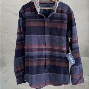 New Men's cotton button down shirt/h…